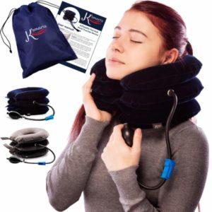 Dispositivo de tracción para estirador de cuello cervical