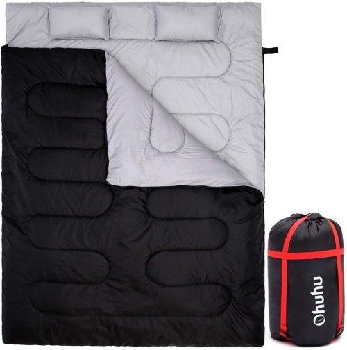 Saco de dormir doble con 2 almohadas Ohuhu