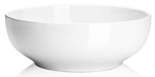 DOWAN Tazones para servir de porcelana de 2-1 / 2 cuartos - Juego de tazones para ensalada / pasta-Tazones grandes