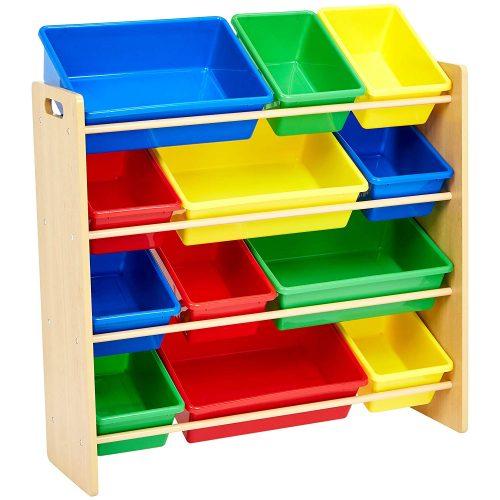 Organizador de almacenamiento de juguetes para niños AmazonBasics