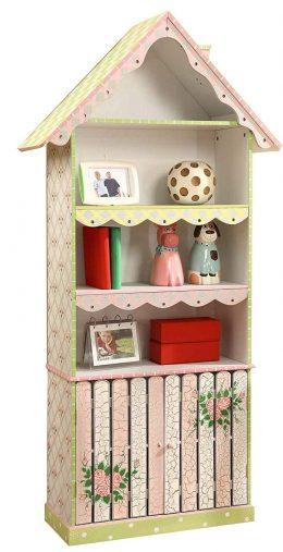 Fantasy Fields - Librería infantil de madera temática con rosas agrietadas