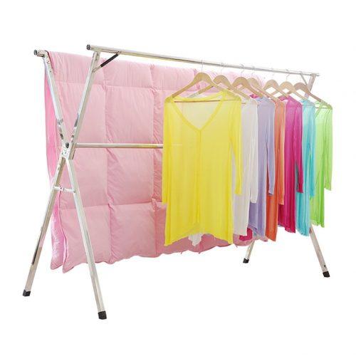 Rack de secado de ropa de acero inoxidable sin instalación