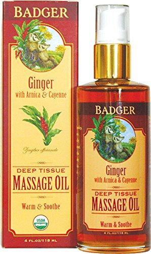 Aceite de masaje de tejido profundo de jengibre BADGER