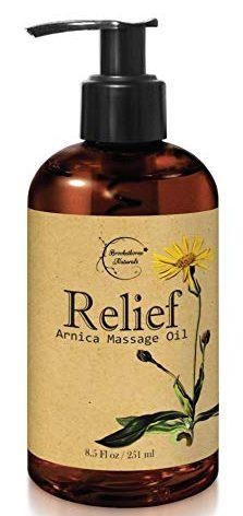 Aceites de masaje calmante de aceite de masaje de árnica de alivio