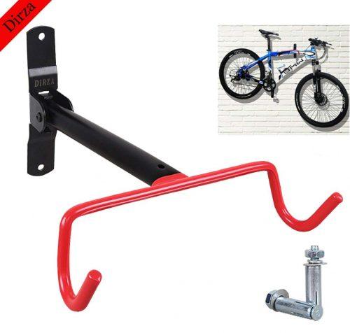 Dirza Soporte de pared para bicicleta Soporte abatible para garaje Sistema de almacenamiento de portabicicletas para bicicletas