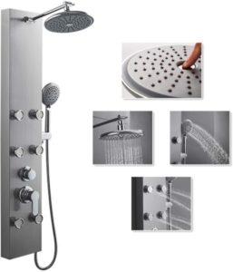 sistema de torre con columna de ducha