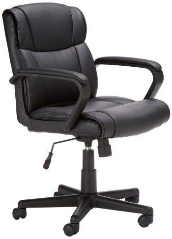 Silla de oficina con respaldo medio AmazonBasics, sillas negras para ordenador