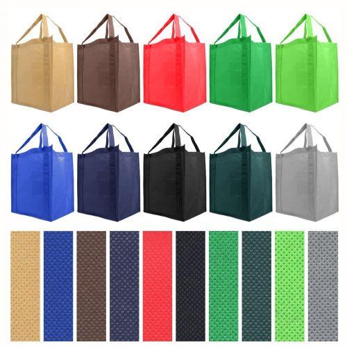 Bolsa de comestibles reutilizable con asa reforzada, paquete grande de 10