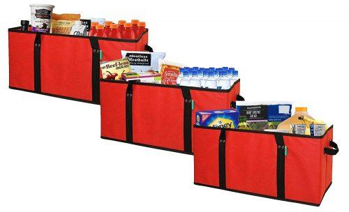 Earthwise Bolsas de comestibles reutilizables Caja de compras Bolsa EXTRA GRANDE BOLSA PLEGABLE