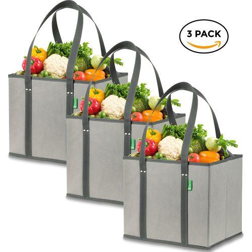 Bolsas de la caja de la compra de comestibles reutilizables-Bolsas de la compra