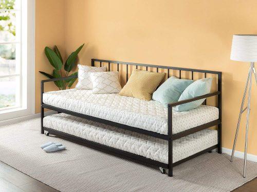 Juego de sofá cama doble y nido Zinus Newport / soporte de listones de acero premium / sofá cama