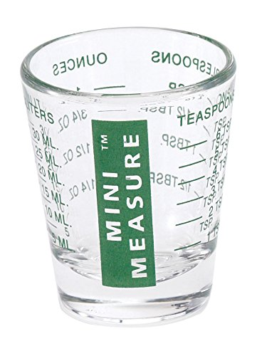 Kolder 13211GRN Mini medidor de cristal pesado, 20 mediciones incrementales, líquido multiusos