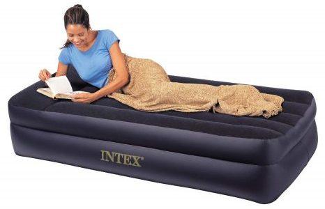 Cama Intex Comfort - Colchón hinchable Rising Comfort Twin con bomba eléctrica incorporada