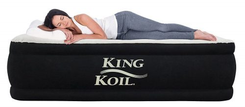 colchón inflable elevado de lujo King Koil TWIN SIZE UPGRADED - colchones inflables dobles