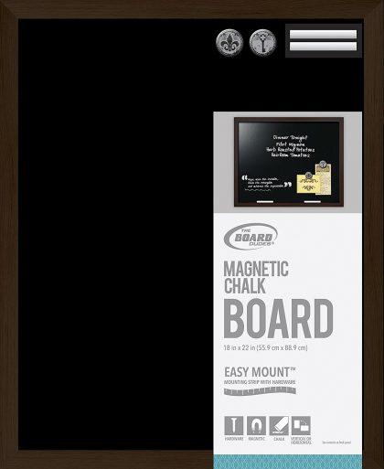 Board Dudes Tablero de tiza magnética Marco de estilo de madera