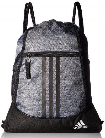 adidas Alliance Ii Sackpack, Onix Jersey / Negro / Blanco, Talla única