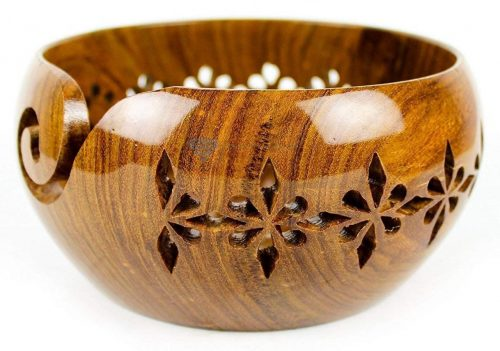 Madera hecha a mano de palisandro con agujeros y taladros tallados