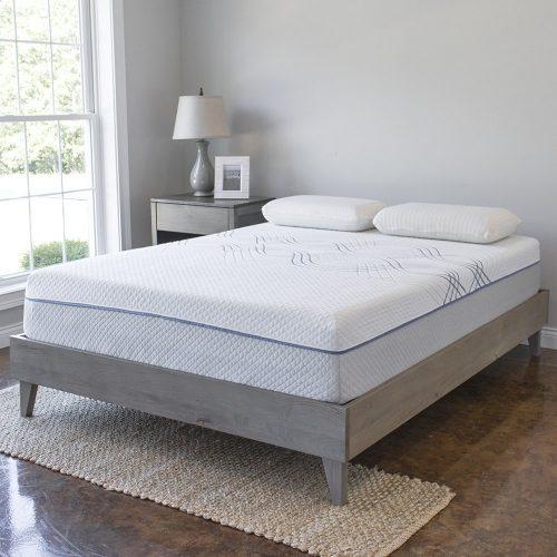 Marco de cama con plataforma de madera