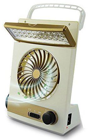 Lámpara de camping con ventilador de refrigeración 3 en 1