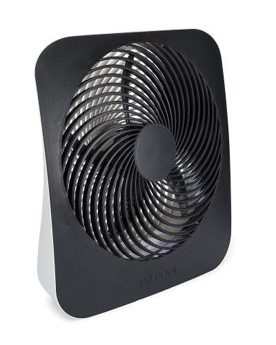 O2COOL Ventilador de batería de circulación de aire de escritorio portátil de 10 pulgadas - 2 velocidades de enfriamiento - con adaptador de CA - Ventiladores de tienda de campaña