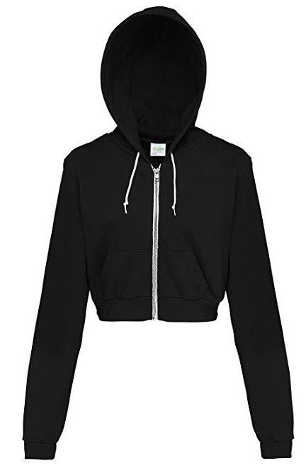 Awdis Just Hoods Chaqueta corta con capucha y cremallera completa para mujer / para mujer