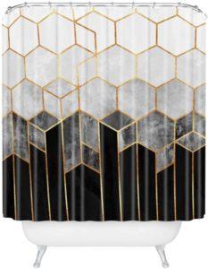 Las 10 mejores cortinas de ducha en blanco y negro