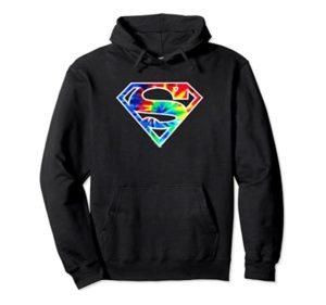 Sudaderas con efecto tie-dye de Superman para hombre