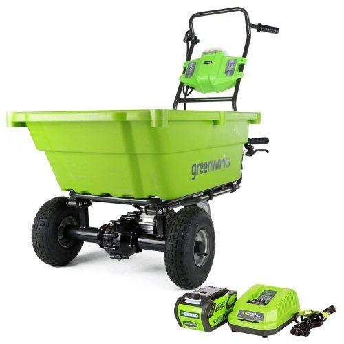 Carro de jardín Greenworks GC40L410 de 40 V con batería de 4 Ah y cargador