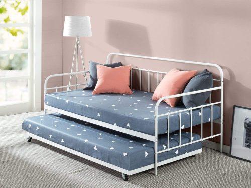 Juego de estructura de sofá cama doble y nido Zinus Florence / listones de acero premium