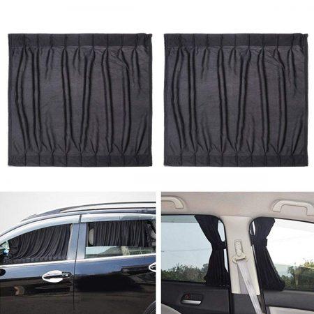 Ventana lateral de coche WINOMO 2 piezas con protección UV cortina parabrisas ventana sombreado vehículo