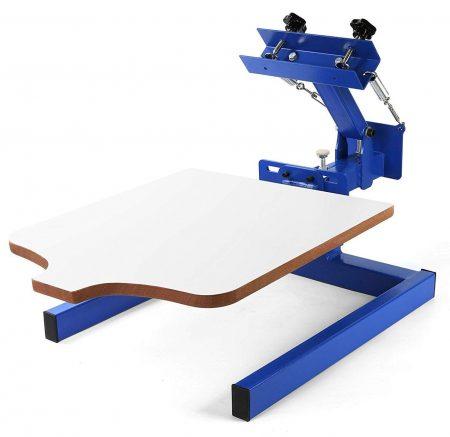 Máquina de serigrafía VEVOR 17.7x21.7Inch Serigrafía Prensa 1 color 1 Estación de serigrafía para paletas extraíbles Impresión de camisetas DIY