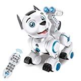 fisca Control remoto Robotic Dog RC Interactive Intelligent Walking Dancing Robot programable Puppy Toys Mascotas electrónicas con luz y sonido para niños Niños Niñas de 6, 7, 8, 9, 10 y más años