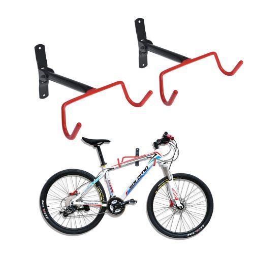 Auwey 2pcs Soporte de pared para bicicletas Soporte de almacenamiento para bicicletas en interiores