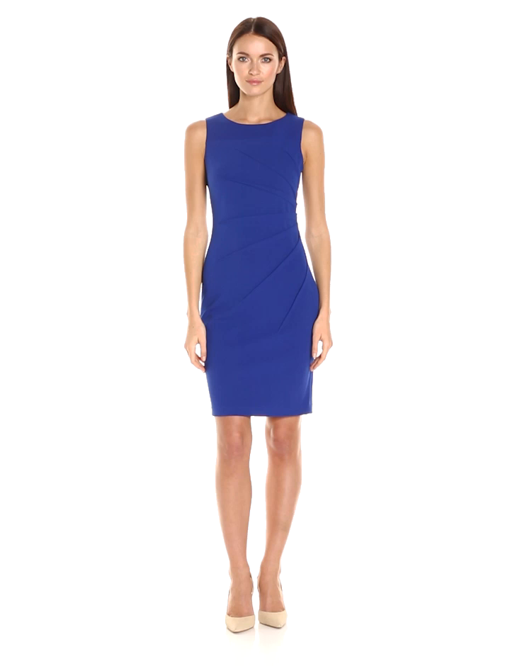 Vaina sin mangas de cuello redondo Calvin Klein para mujer con detalle de estrella