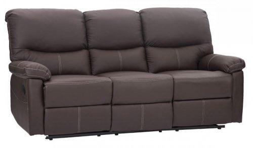 FDW 3 Loveseat Juego de sofás Sofá reclinable 3 Muebles de sala de estar de cuero PR
