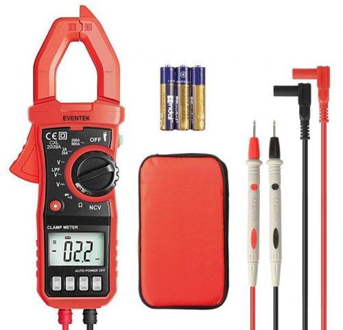 Pinza amperimétrica digital, 4000 cuentas Eventek ET820 Multímetro de rango multímetro