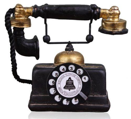 Hewnda Creative Retro Teléfonos Teléfono de marcado giratorio de resina europea