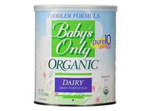 Fórmulas orgánicas para bebé