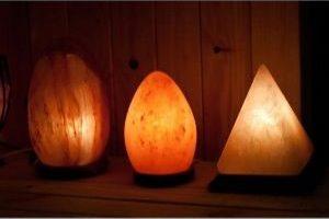 Lámparas de sal del Himalaya