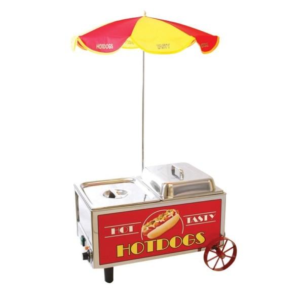 Benchmark 60072 Mini carrito de vapor para perros calientes, 120 V, 1200 W, 10 A